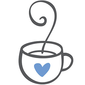 Illustration of a cup with a heart on it