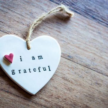 I start my day with gratitude.